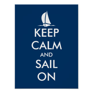 El poster náutico con la nave el   guarda calma y