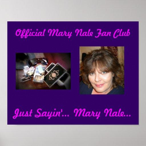 El poster oficial del club de fans de Maria Nale