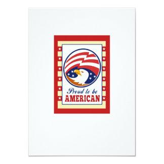 El poster orgulloso americano del Día de la Invitaciones Personalizada