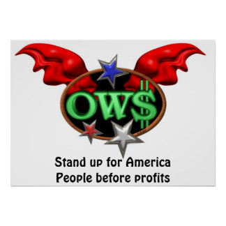 El poster OWS del personalizar es se levanta el mo