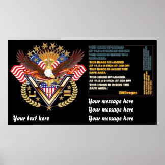 El poster patriótico grande a pequeño ve notas póster