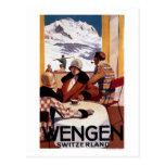 El poster promocional del club en declive tarjeta postal