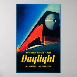 El poster promocional del tren de la luz del día