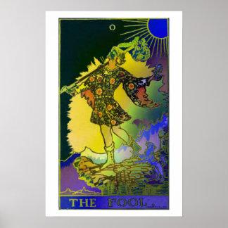 El poster psicodélico de la carta de tarot del ton