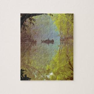 El poster reclinado del libro el | de la selva rompecabeza con fotos