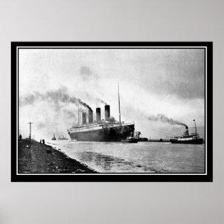 El poster titánico de la foto del vintage del