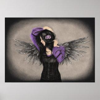 El poster triste del ángel del corazón