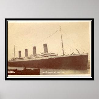 El poster viejo de la foto del vintage de la serie