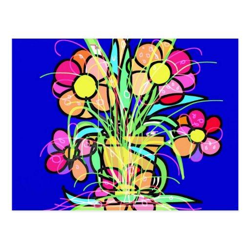 El pote de flor postales