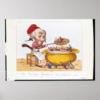 El pote de la purificación del Jacobins, 1793 Impresiones