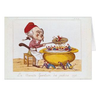 El pote de la purificación del Jacobins, 1793 Tarjeton