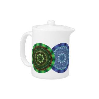 El pote del té de las mandalas de los elementos