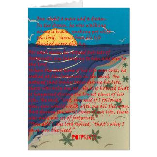 El pote imprime la tarjeta de felicitación