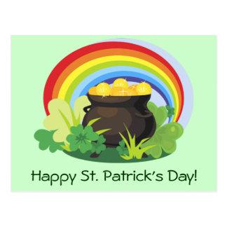 El Pote-o-Oro de St Patrick Postales