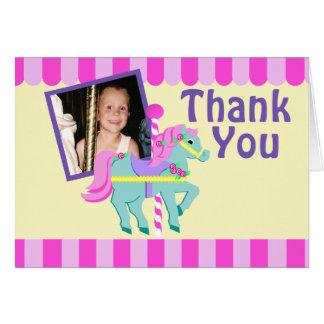 El potro pintado le agradece con la foto tarjeta pequeña