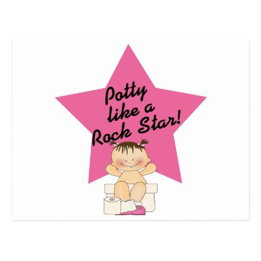 El Potty tiene gusto de un chica de la estrella Tarjeta Postal