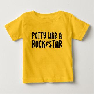 El Potty tiene gusto de una estrella del rock Camisas