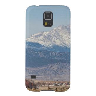 El pozo de petróleo Pumpjack y la nieve sacada el Funda Galaxy S5