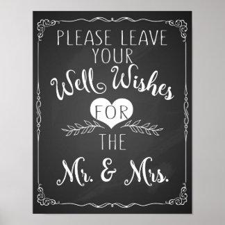 el pozo desea el poster de la muestra del boda de