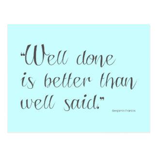 El pozo hecho es mejor - postal de motivación