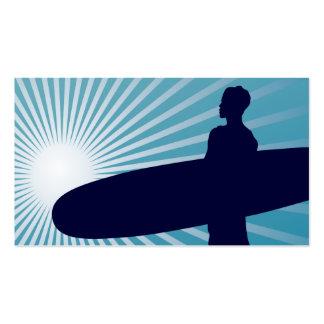 el practicar surf altísimo plantilla de tarjeta de visita