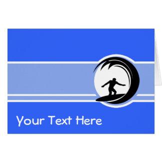 El practicar surf; Azul Tarjeta De Felicitación