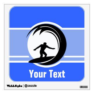 El practicar surf; Azul Vinilo