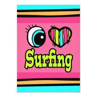 """El practicar surf brillante del amor del corazón I Invitación 4.5"""" X 6.25"""""""