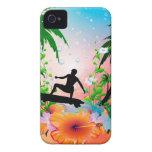 El practicar surf Case-Mate iPhone 4 carcasas