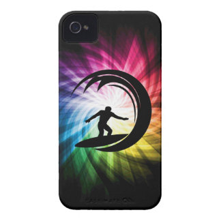 El practicar surf colorido iPhone 4 Case-Mate coberturas