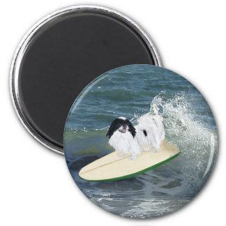 El practicar surf de Chin del japonés Imán Redondo 5 Cm