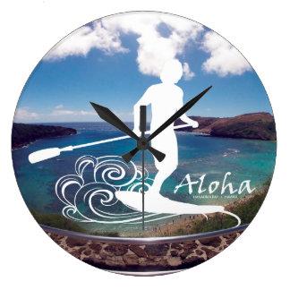 El practicar surf de Hawaii de la hawaiana Reloj