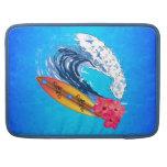 El practicar surf de Hawaii Fundas Macbook Pro