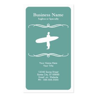 el practicar surf de la MOD Tarjetas De Visita