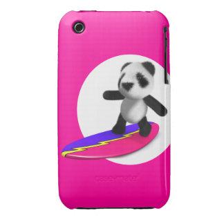 el practicar surf de la panda del bebé 3d iPhone 3 Case-Mate cobertura