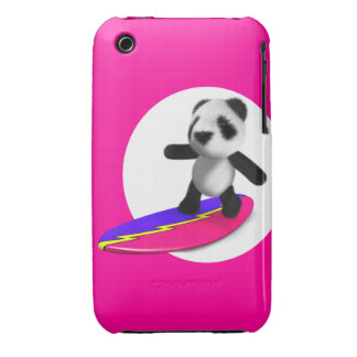 el practicar surf de la panda del bebé 3d funda bareyly there para iPhone 3 de Case-Mate