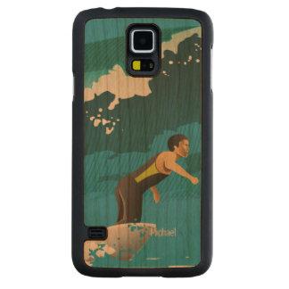 El practicar surf de la persona que practica surf funda de galaxy s5 slim cerezo