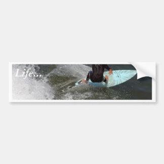 El practicar surf de la playa de Venecia Pegatina Para Auto