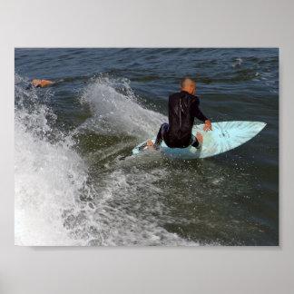El practicar surf de la playa de Venecia Póster