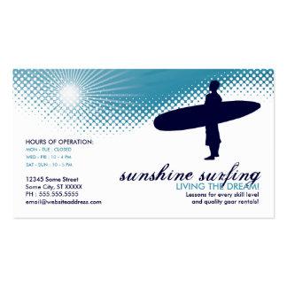 el practicar surf de la sol tarjetas de visita