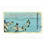 El practicar surf de Longboarding Huanchaco Perú Tarjeta Postal