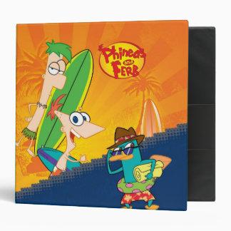 El practicar surf de Phineas y de Ferb