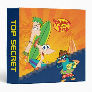 """El practicar surf de Phineas y de Ferb Carpeta 1 1/2"""""""