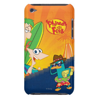 El practicar surf de Phineas y de Ferb iPod Case-Mate Fundas