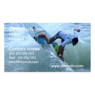 El practicar surf de Rican de la costa Plantilla De Tarjeta De Visita