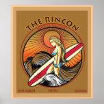 EL PRACTICAR SURF DE RINCON SAN CLEMENTE CALIFORNI POSTER