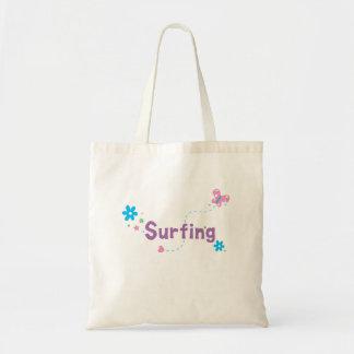 El practicar surf del alboroto del jardín bolsas de mano