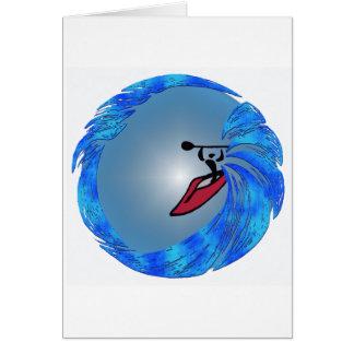 El practicar surf del alma del kajak tarjeta