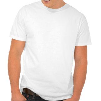 El practicar surf del naranja y blanco camiseta