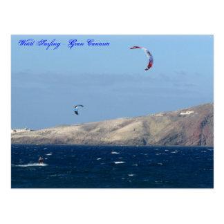 El practicar surf del viento - Gran Canaria Tarjeta Postal